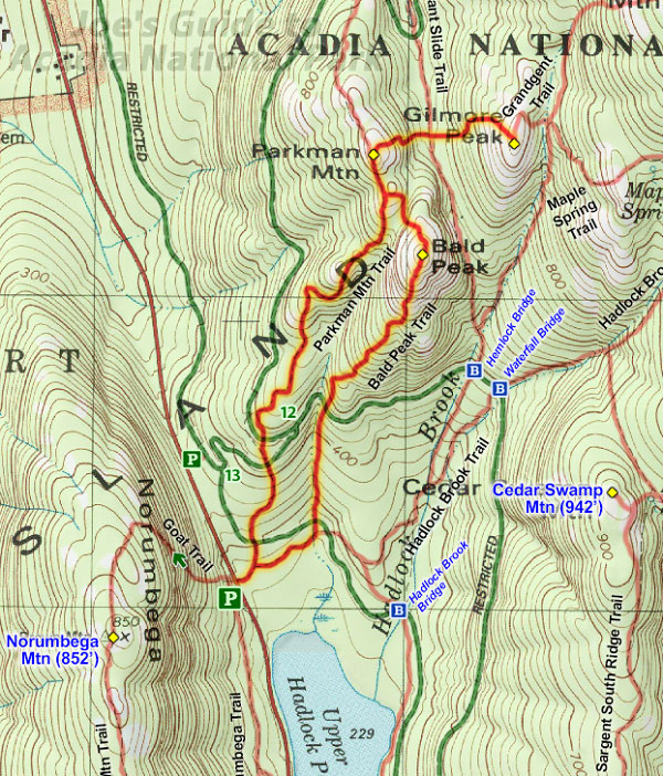 Joes Guide To Acadia National Park Maps And Navigation - Topo trail maps