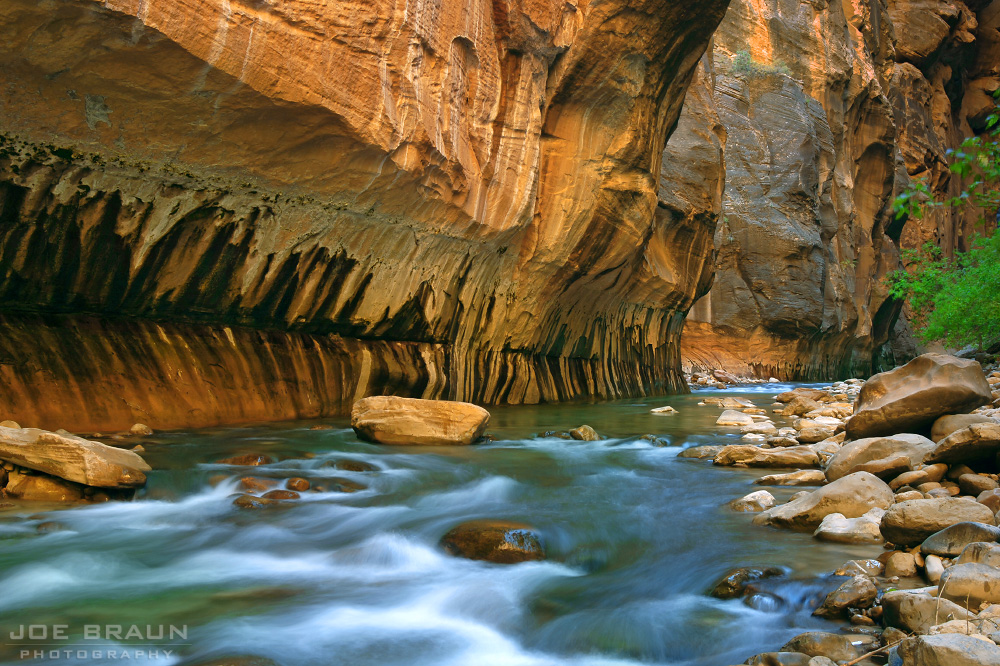 Zion Narrows photo (Zion National Park) -- © 2005 Joe Braun Photography