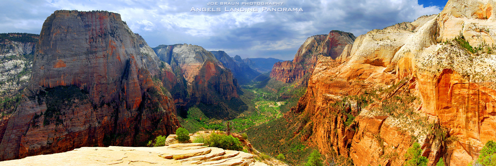 Angels Landing Panorama (Zion National Park) -- © 2007 Joe Braun Photography