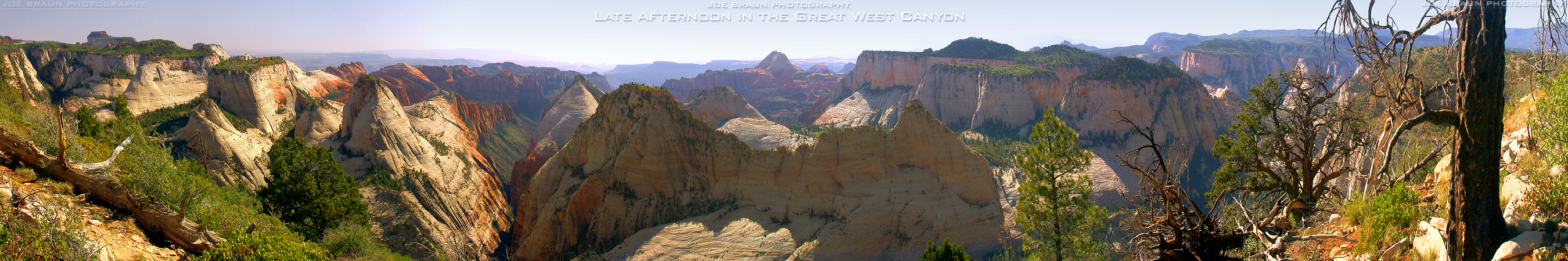 Great West Canyon Panorama (Zion National Park) -- © 2002 Joe Braun Photography