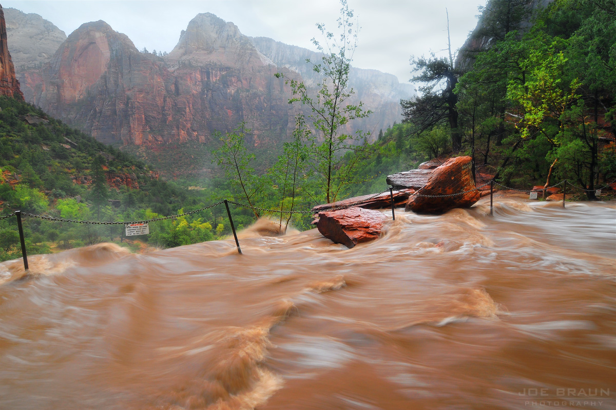 Emerald Pools flash flood photo (Zion National Park) -- © 2010 Joe Braun Photography