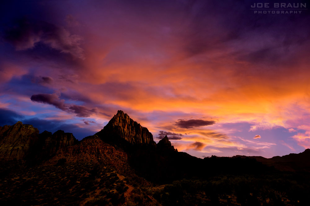 Watchman Sunset (Zion National Park) -- © 2015 Joe Braun Photography