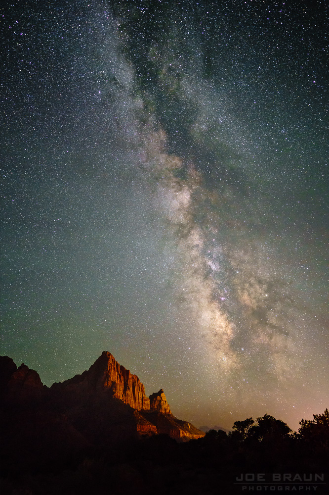 Milky Way over the Watchman (Zion National Park) -- Photo © 2017 Joe Braun Photography