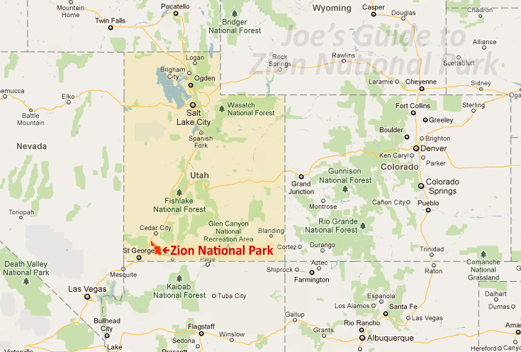 Joe39s Guide To Zion National Park  Getting To Zion