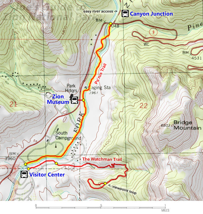 Warriors Path State Park Map: Joe's Guide To Zion National Park