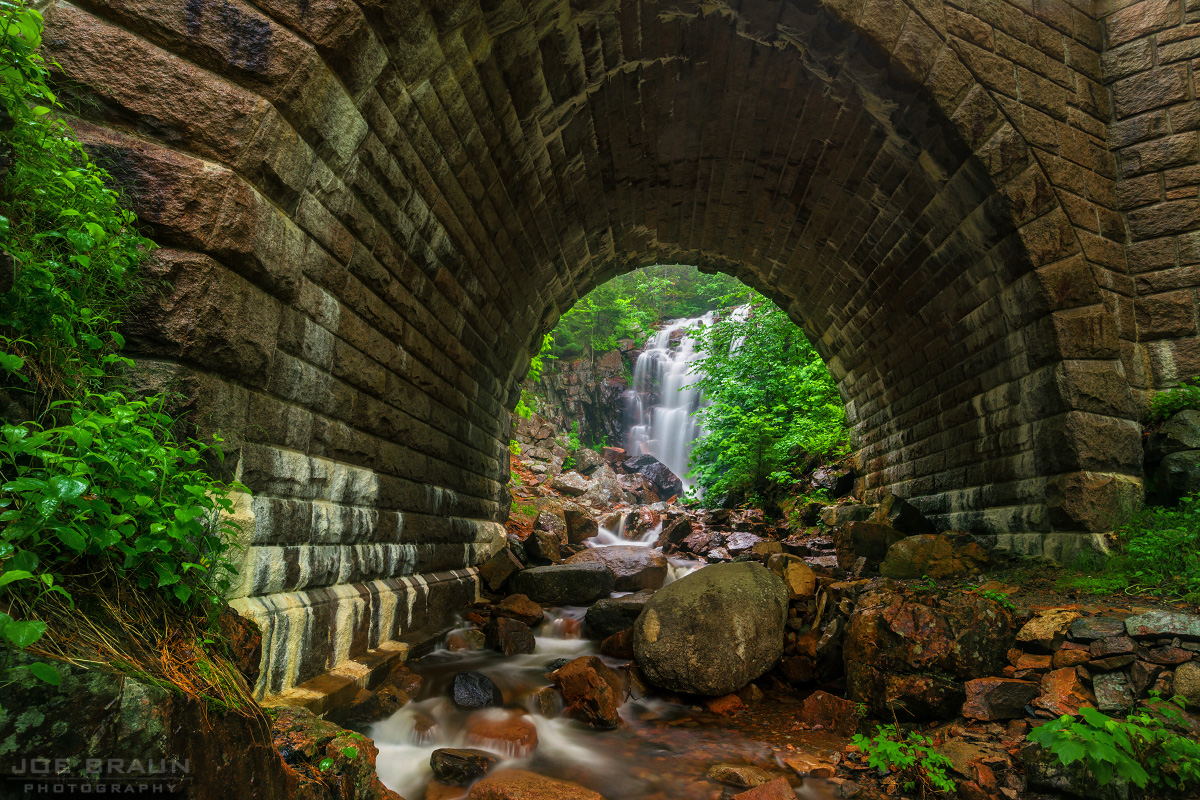 Waterfall Bridge, Hadlock Brook Trail photo (Acadia National Park) -- © 2014 Joe Braun Photography