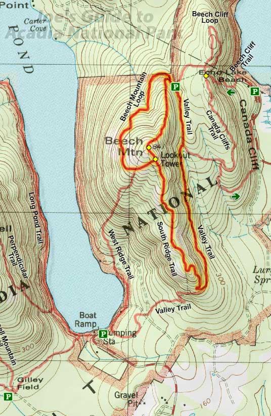 Joe\'s Guide to Acadia National Park - Beech Mountain Hiking Guide