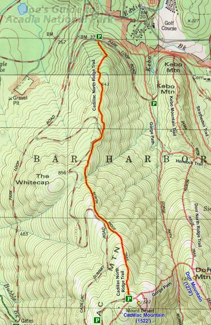 joe's guide to acadia national park - cadillac north ridge trail