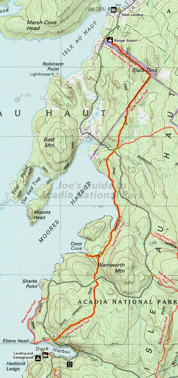 Joes Guide to Acadia National Park Duck Harbor Trail Hiking Guide