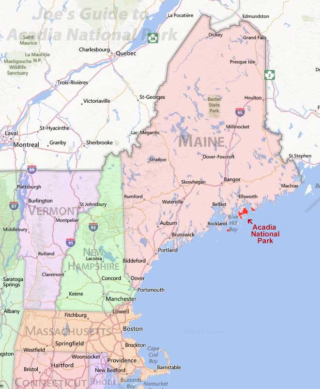acadia national park regional map 1