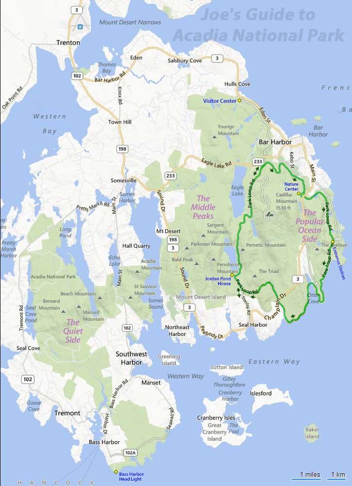 acadia national park map pdf