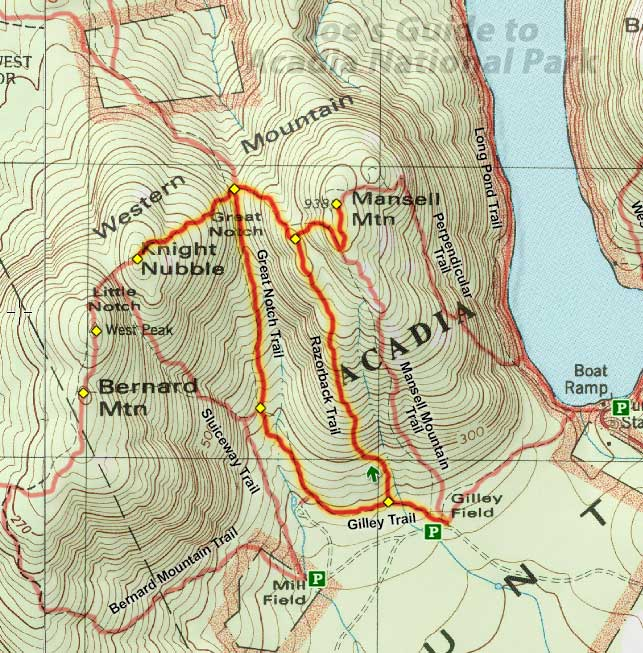 Joe\'s Guide to Acadia National Park - Razorback Trail Hiking Guide
