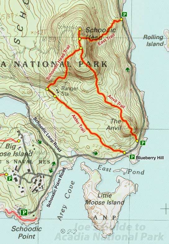 Joes Guide to Acadia National Park Schoodic Head Trail Hiking Guide