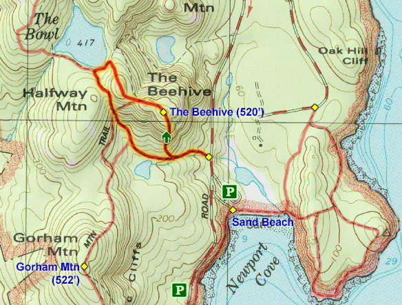 Joe\'s Guide to Acadia National Park - The Beehive Trail Hiking Guide
