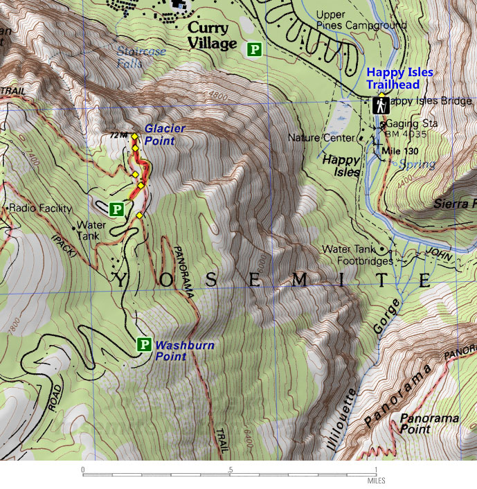 Joes Guide to Yosemite National Park Glacier Point and Washburn