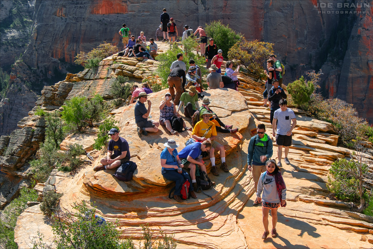 Angels Landing crowd