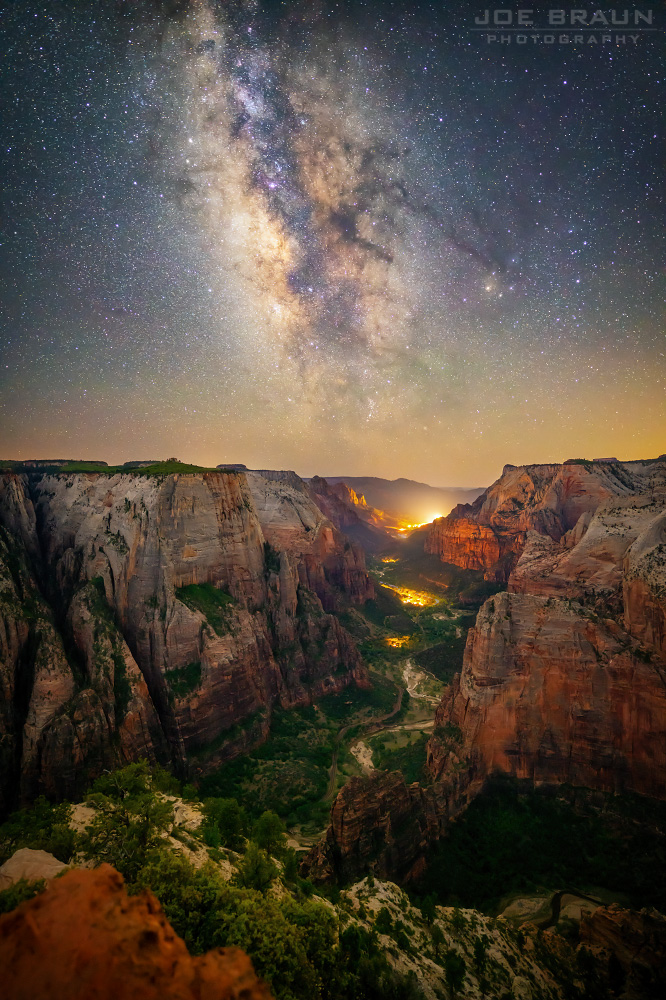 Observation Point Milky Way photo (Zion National Park) -- © 2018 Joe Braun Photography