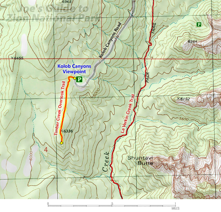 Zion National Park Trail Map on