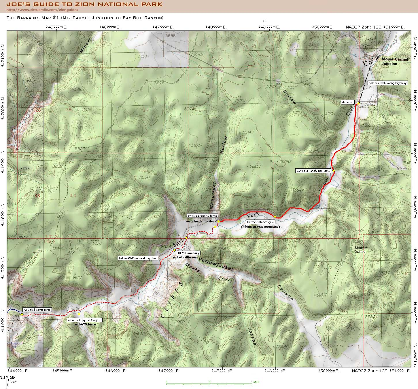 Joe's Guide to Zion National Park - The Barracks (Upper Parunuweap on canyonlands topographic map, grand mesa topographic map, blue ridge parkway topographic map, uinta mountains topographic map, delaware water gap topographic map, redwood national park topographic map, zion national park temperature map, eureka topographic map, simple contour lines topographic map, coconino plateau topographic map, horseshoe canyon topographic map, zion canyon campground map, sequoia national park topographic map, browse topographic map, west rim trail topographic map, el capitan topographic map, rockville topographic map, hawaii volcanoes national park topographic map, panguitch lake topographic map, red rock canyon topographic map,