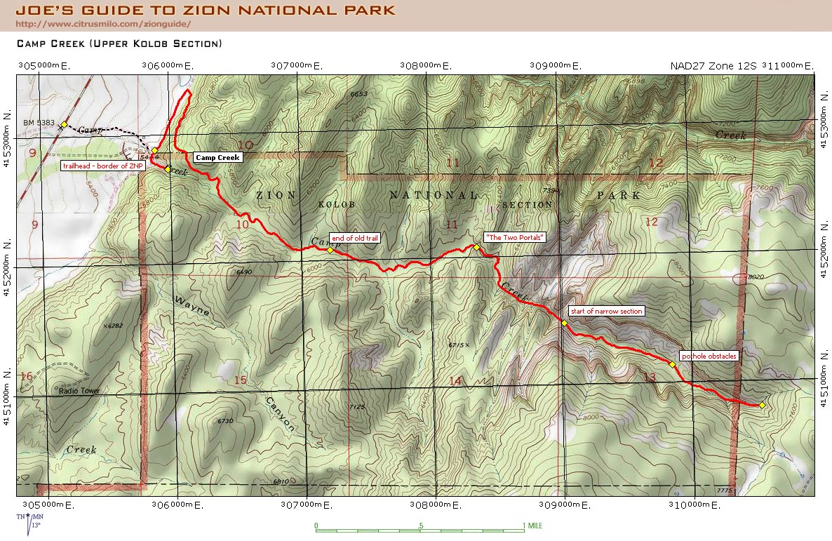 joeun_campcreekmap Zion National Park Map And Guide on bryce map and guide, grand canyon map and guide, monument valley map and guide, national park service map and guide, downtown dallas map and guide,