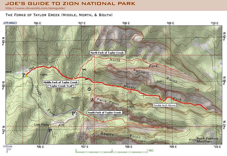 Joe's Guide to Zion National Park - Taylor Creek Trail ...