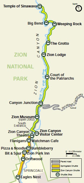 Joes Guide to Zion National Park The Zion Shuttle System